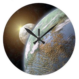 Terrestrial Planet Wallclock