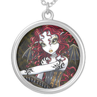 """""""Terri"""" Gothic Red Rose Fairy Necklace"""