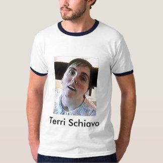 Terri Schiavo comió al papa Playera