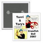 Terri&Tory, CrawfishBoil2007 Pin