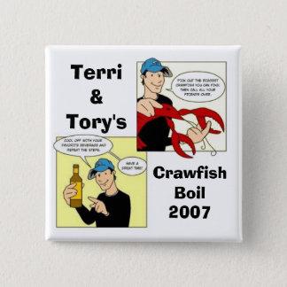 Terri&Tory's, CrawfishBoil2007 Pinback Button