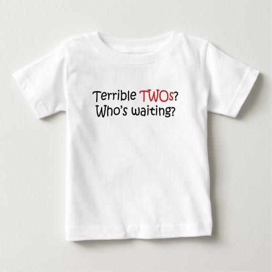terrible2s playera de bebé