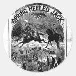 terrible de penique - enchufe primavera-inclinado pegatina redonda