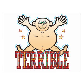 Terrible Fat Man Postcard