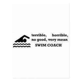 Terrible Swim Coach Postcard