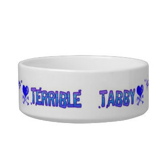 Terrible Tabby Bowl