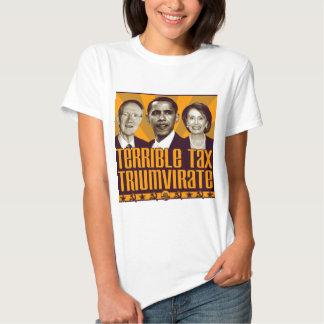 Terrible Tax Triumvirate Tee Shirts