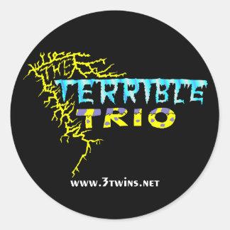 Terrible Trio Logo Sticker
