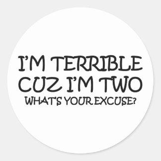 Terrible Two Birthday Sticker