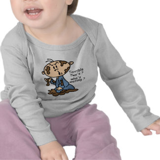 Terrible Two's? Who's Waiting? Baby (BLUE) T Shirt