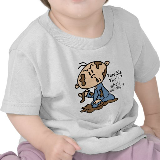 Terrible Two's? Who's Waiting? Baby (BLUE) Tshirts