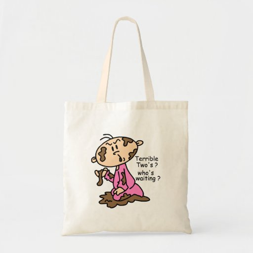 Terrible Two's? Who's Waiting? Baby (PINK) Bag