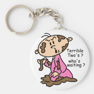 Terrible Two's? Who's Waiting? Baby (PINK) Key Chain