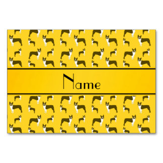 Terrier amarillo conocido personalizado de Boston