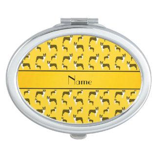 Terrier amarillo conocido personalizado de Boston Espejo Para El Bolso