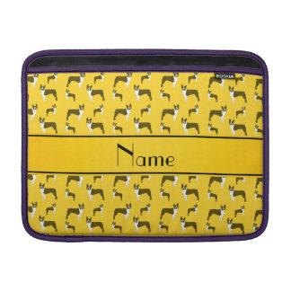 Terrier amarillo conocido personalizado de Boston Fundas MacBook