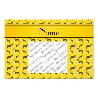 Terrier amarillo conocido personalizado de Boston Fotografía
