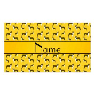 Terrier amarillo conocido personalizado de Boston Plantilla De Tarjeta De Negocio