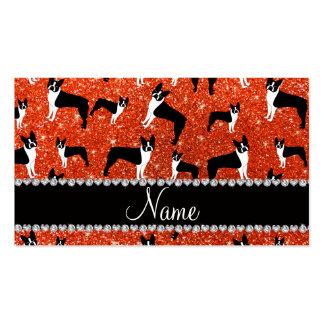 Terrier anaranjado de neón conocido de encargo de tarjetas de visita