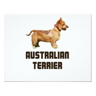 Terrier australiano invitación 10,8 x 13,9 cm