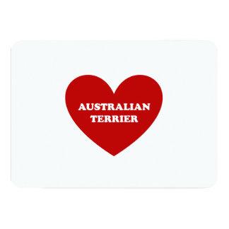 """Terrier australiano invitación 5"""" x 7"""""""