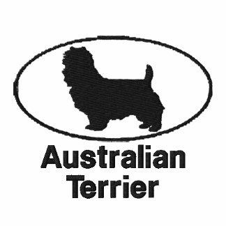 Terrier australiano oval bordó la camisa (la camis