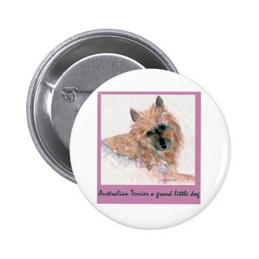 Terrier australiano rojo HACE FRENTE Pin