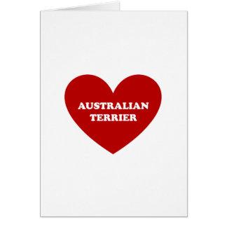 Terrier australiano tarjeta de felicitación