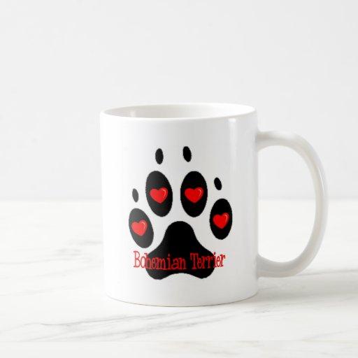 Terrier bohemio taza de café