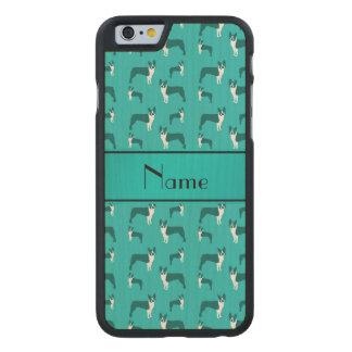Terrier conocido personalizado de Boston de la Funda De iPhone 6 Carved® Slim De Arce