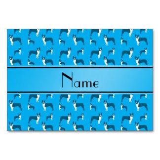 Terrier conocido personalizado de Boston del azul