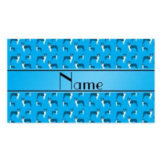Terrier conocido personalizado de Boston del azul Tarjeta De Visita