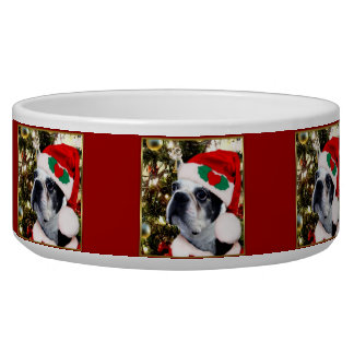 Terrier de Boston del navidad Comedero Para Mascota