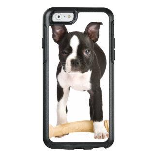 Terrier de Boston que guarda el hueso twisty Funda Otterbox Para iPhone 6/6s