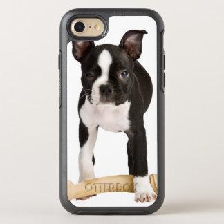 Terrier de Boston que guarda el hueso twisty Funda OtterBox Symmetry Para iPhone 7