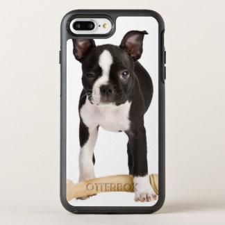 Terrier de Boston que guarda el hueso twisty Funda OtterBox Symmetry Para iPhone 7 Plus