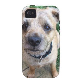 Terrier de frontera lindo Case-Mate iPhone 4 carcasa