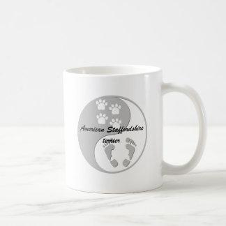terrier de yang Staffordshire americano del yin Taza De Café