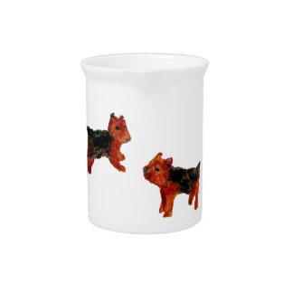 Terrier Dog Art Beverage Pitcher