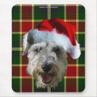 Terrier Dog MacLachlan Scottish Tartan Christmas Mouse Pad
