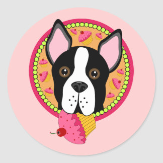 Terrier dulce pegatina redonda