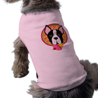Terrier dulce playera sin mangas para perro