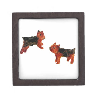 Terrier Fun Dog Art Gift Box