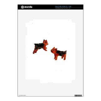 Terrier Fun Dog Art iPad 2 Decal
