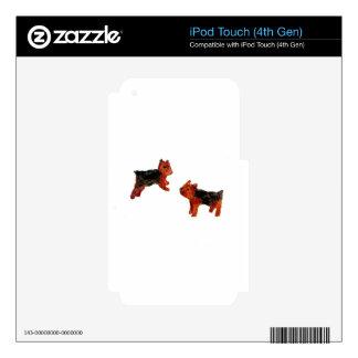 Terrier Fun Dog Art iPod Touch 4G Decals