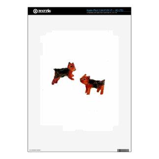 Terrier Fun Dog Art Skins For iPad 3