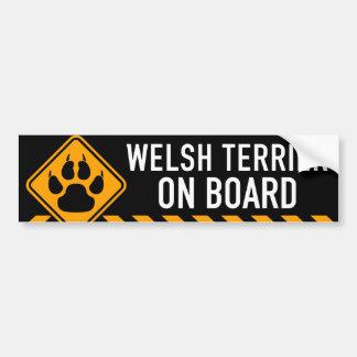 Terrier galés a bordo pegatina para auto