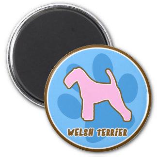 Terrier galés de moda imán redondo 5 cm