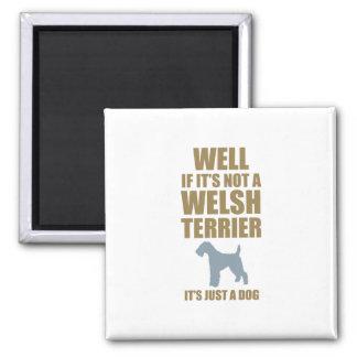 Terrier galés imán cuadrado