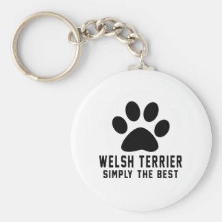 Terrier galés simplemente el mejor llaveros personalizados